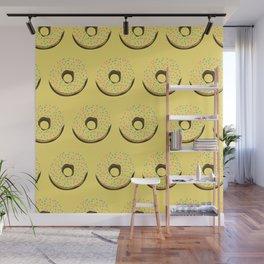 Yellow donuts Wall Mural
