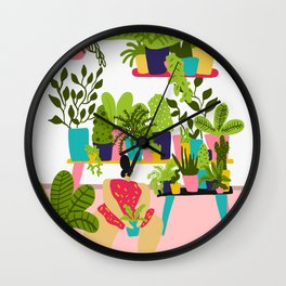 Love Plants Wall Clock