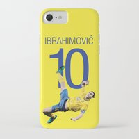 zlatan iPhone & iPod Cases featuring Zlatan Ibrahimović Sweden Bicycle Kick Print by graphics17