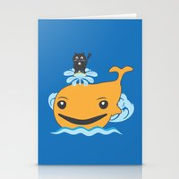 surfing Stationery Cards featuring Surfing by Hagu