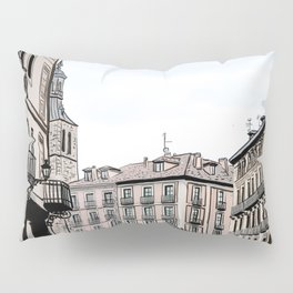 Major Square of Segovia Drawing in Spain Pillow Sham