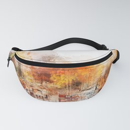 NYC Watercolor Collection - The Skyline Fanny Pack