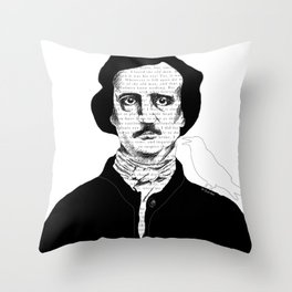 Persistence of Poe Throw Pillow