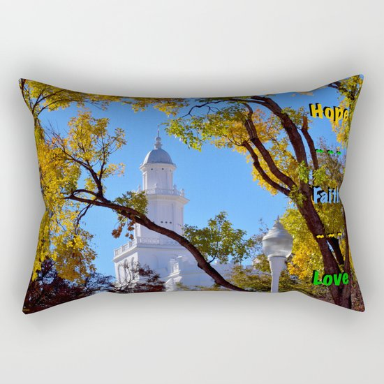 Hope ~ Faith ~ Love Rectangular Pillow