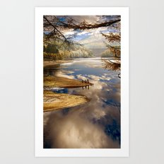 Reservoir Reflections Art Print