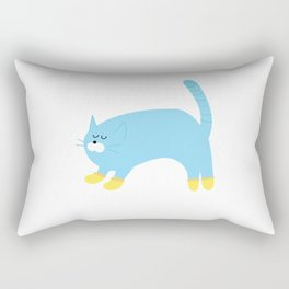kitten wearing socks Rectangular Pillow