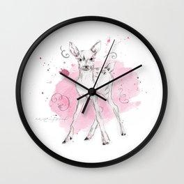 Little Pink Fawn Wall Clock