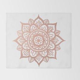 New Rose Gold Mandala Throw Blanket