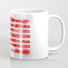 Watercolor American Flag for Veterans and Patriots Coffee Mug