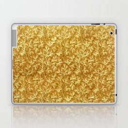 Vintage Floral Lace Leaf Yellow  Laptop & iPad Skin