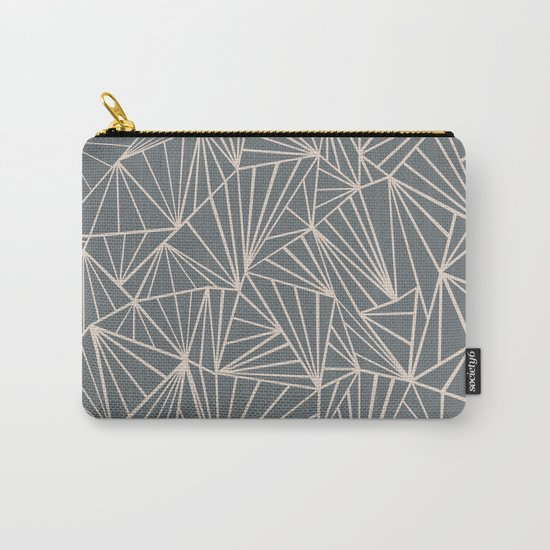 Ab Fan Grey And Nude Carry-All Pouch