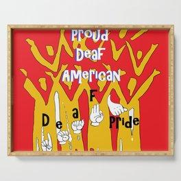Proud Deaf American Serving Tray