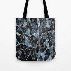 Shattered Soft Dark Blue Tote Bag