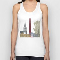 singapore Tank Tops featuring Singapore skyline poster by Paulrommer
