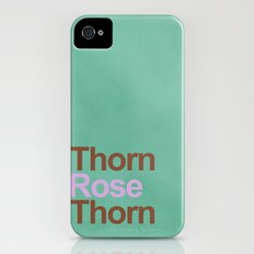 A rose between two thorns Slim Case iPhone (4, 4s)