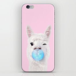 BUBBLE GUM LLAMA iPhone Skin