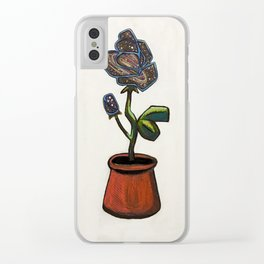Infinity Rose Clear iPhone Case