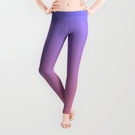 Color gradient 3. Pink and blue.abstraction,abstract,minimalism,plain,ombré Leggings
