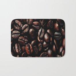 Dark Roasted Coffee Beans Bath Mat