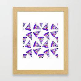 Purple Rainbow Pizza! Framed Art Print
