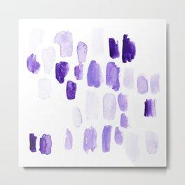 Study of Purple Metal Print