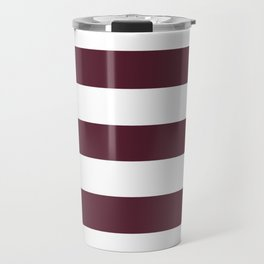 Light chocolate cosmos - solid color - white stripes pattern Travel Mug