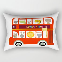 Animal Bus Rectangular Pillow