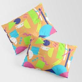 Postmodern Sea ll in Neon 90's Pillow Sham