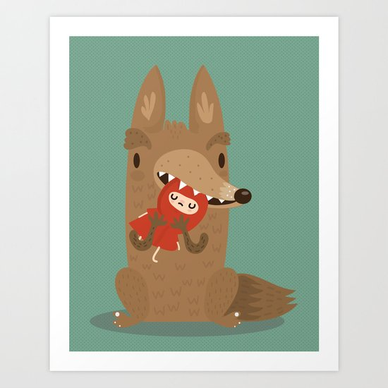 Poor little red Art Print