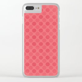 Faded red circles pattern Clear iPhone Case