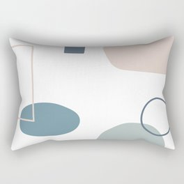 Going to be happy in blue Rectangular Pillow