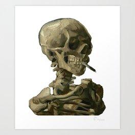 Van Gogh, Head of Skeleton Artwork Skull Reproduction, Posters, Tshirts, Prints, Bags, Men, Women, K Art Print