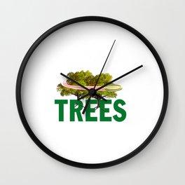 Splittin' Trees Funny Disc Golf Wall Clock