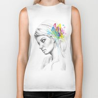 butterflies Biker Tanks featuring Butterflies by Olechka