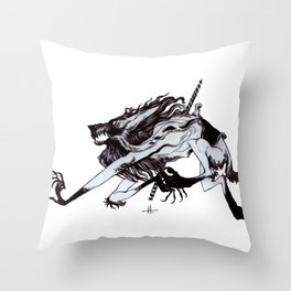 Werewolf Carousel Throw Pillow