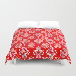 Stella in Red Pattern Duvet Cover