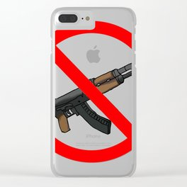 ak47 cross Clear iPhone Case