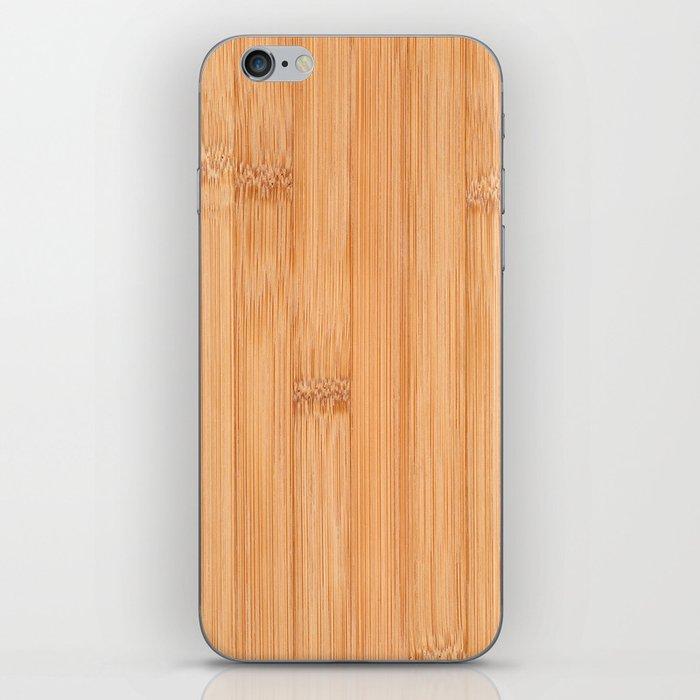 Cool elegant light brown bamboo wood print iPhone Skin