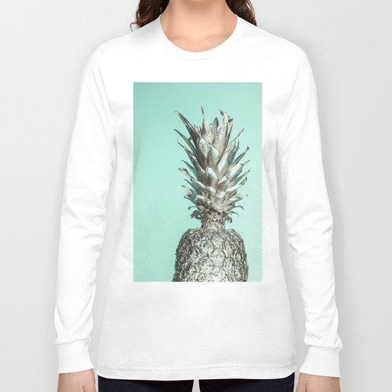 Silver Mint Pineapple Long Sleeve T-shirt