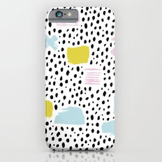 Pastel spots and dots Slim Case iPhone 6