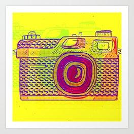 Pop Art Analog Photo Camera Art Print