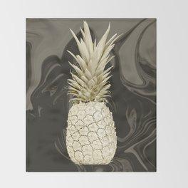 Golden Pineapple Marble Throw Blanket