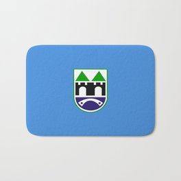 Sarajevo city flag Bosnia and Herzegovina Bath Mat
