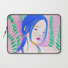 Girl and Aroid Palm Laptop Sleeve