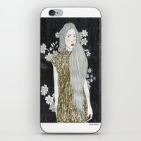 gold glitter iPhone & iPod Skins featuring Gold Glitter  by Juana Andres