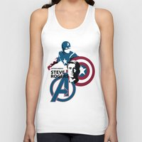 steve mcqueen Tank Tops featuring Steve by Mad42Sam