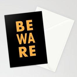 Beware Halloween minimal art Stationery Cards