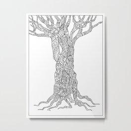 zen doodle tree Metal Print