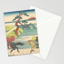 Japanese Print Three Horse Riders Stationery Cards