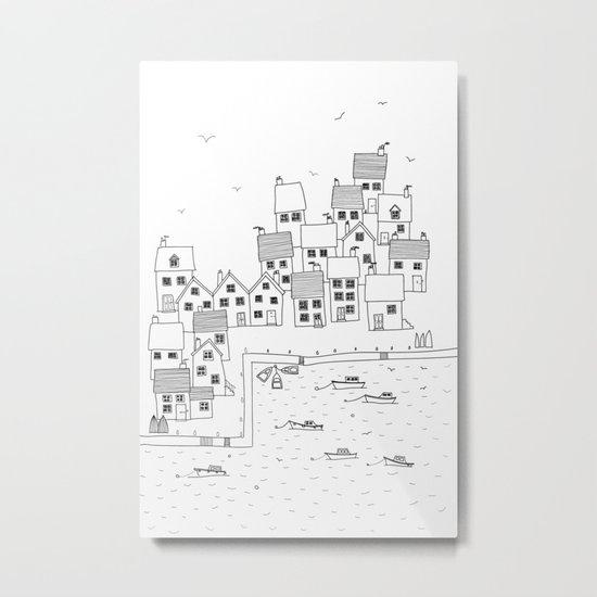 Harbour sketch Metal Print